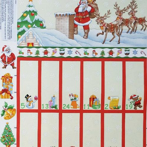 Nutex Christmas Advent Calendar Fabric Panel