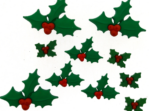 Dress it up Buttons - Holly Jolly Christmas 2478 - Childrens/Craft