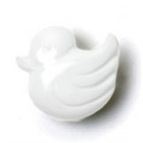 White Duck Baby Buttons