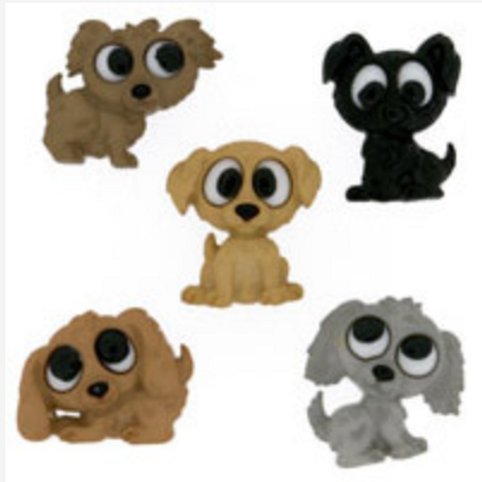 Dress it up Buttons - Playful Puppies 7687  Childrens/Craft
