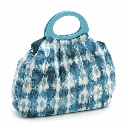 Yarn/Crochet/Knitting Bag: Gathered: Ikat Pattern