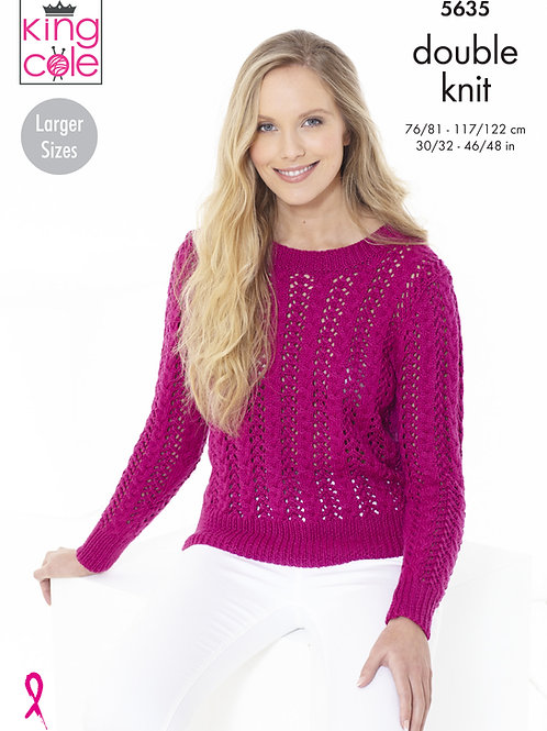 King Cole Adults Cardigan and Sweater - DK - Knitting Pattern -5635