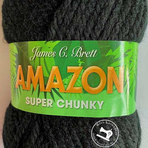 James C Brett Amazon Super Chunky J12 Black