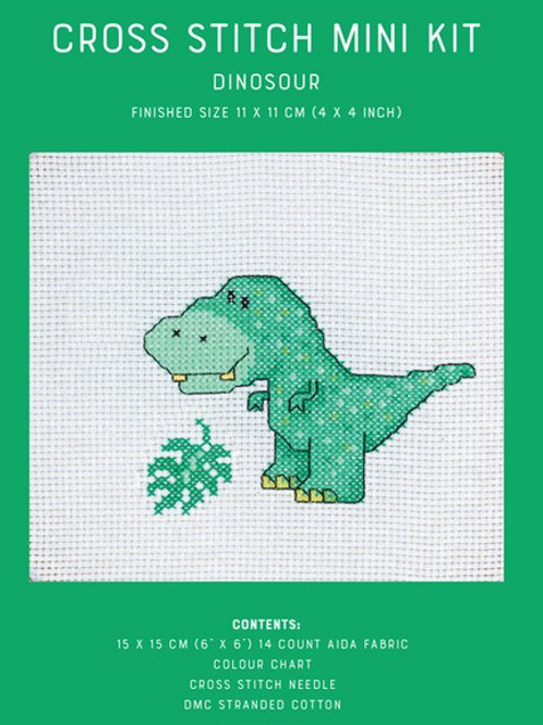 Counted Cross Stitch Mini Kit - Dinosour