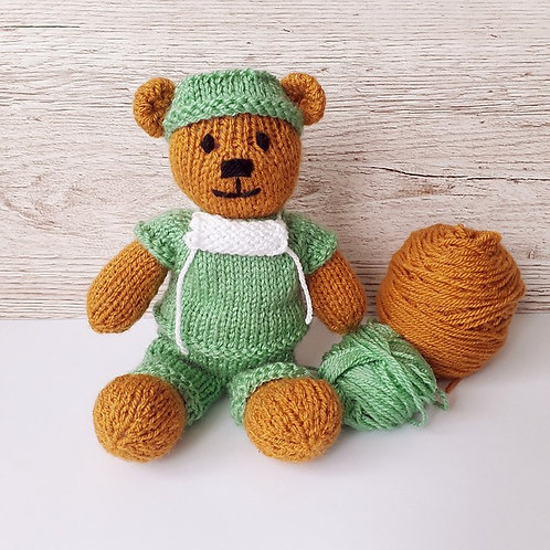 Yarn Pack - Little Doctor Bear Pattern
