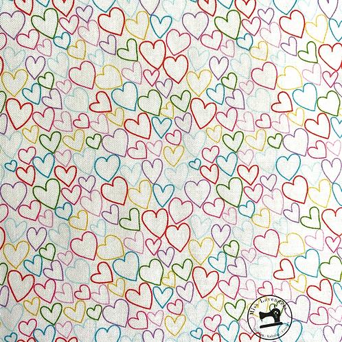 Makower Daydream Hearts