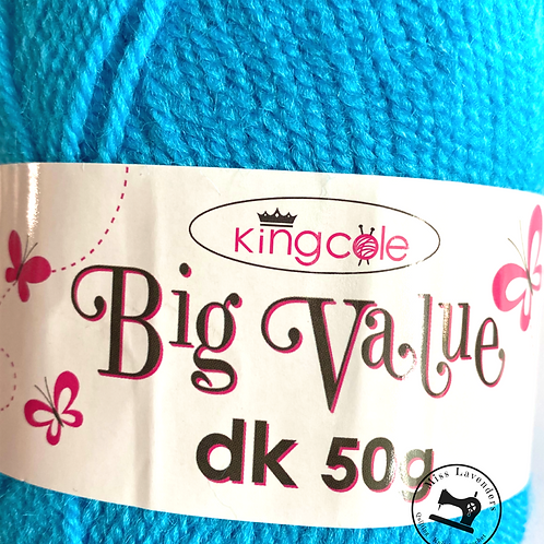 King Cole Big Value Double Knit DK 50g - Turquoise 4044
