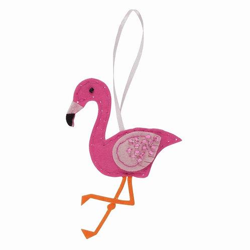 Flamingo Felt Kit Decoration