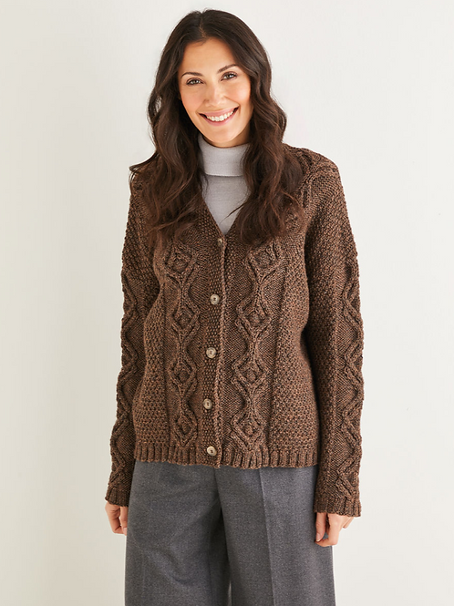 Sirdar Hayfield Adults Cardigan Aran Pattern -10222