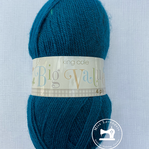 King Cole Big Value 4PLY 100g - Peacock 1757
