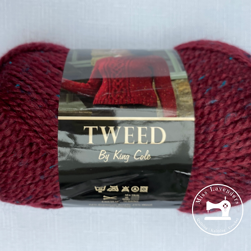 King Cole Chunky Tweed with 25% Wool - Dark Red/Maroon-Iona 1087