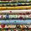 Thumbnail: Makower Spring - Rabbits Grey Fabric