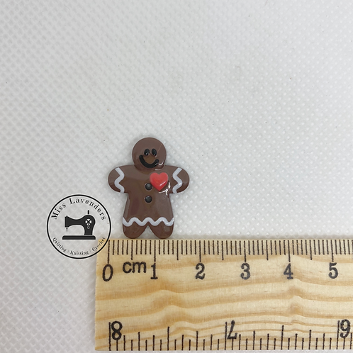 Gingerbread Man Buttons - 15mm