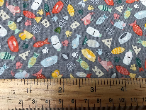 Makower Cool Cats Scatter - Fabric