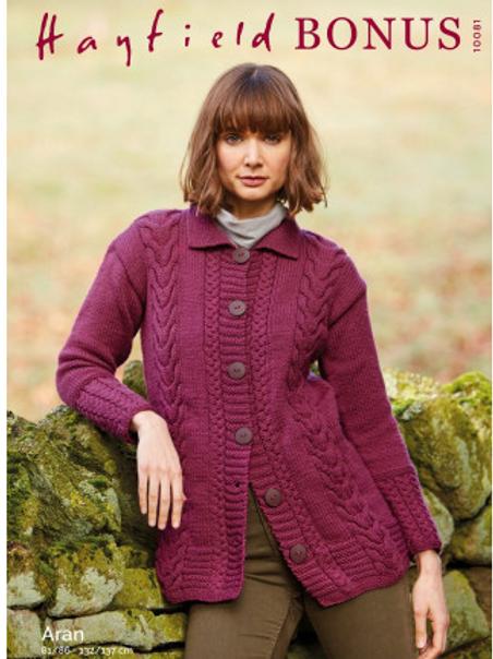 Sirdar Hayfield Adults Cardigan Aran Pattern -10081