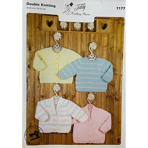 Teddy Baby Cardigans and Sweater - Double Knitting - 7177