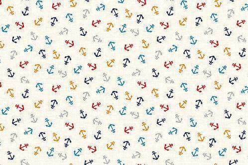 Makower Sail Away - Anchors Fabric