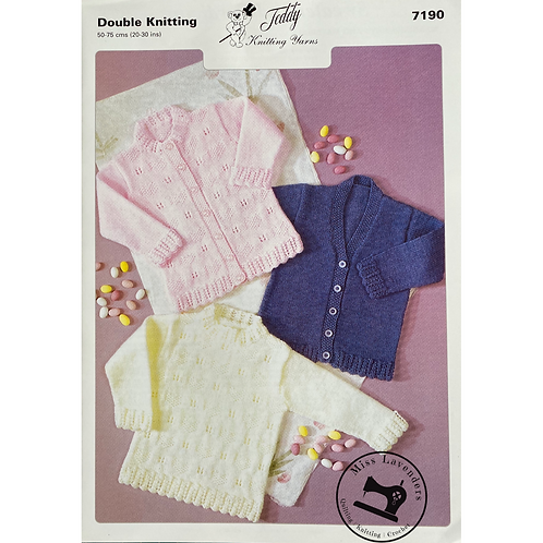 Teddy Baby/Childrens Cardigan and Sweater in DK - 7190