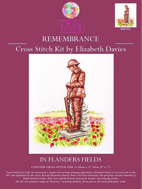 Remembrance in Flanders Fields Cross Stitch Kit - by Betty Davies
