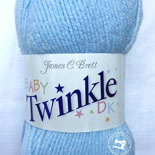 James C Brett - Baby Twinkle Double Knit DK Yarn 100g - Blue BT04
