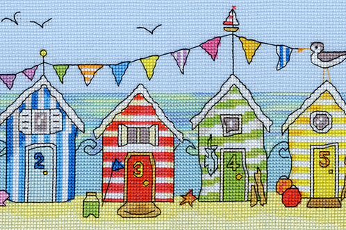 Cross Stitch Kit - Beach Hut Fun