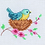 Thumbnail: Counted Cross Stitch Mini Kit - Bird in Nest
