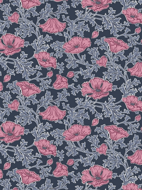 Liberty Winterbourne House - Beatrice Poppy Fabric - Pink 04775731/A