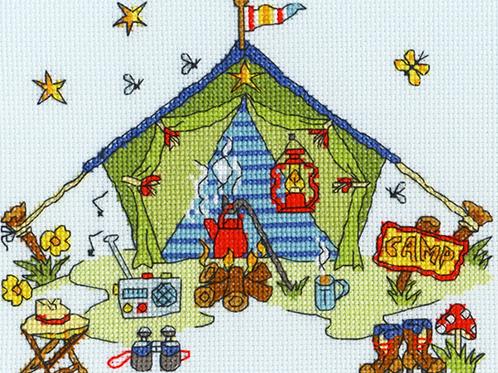 Bothy Threads Sew Dinky Tent -  Cross Stitch Kit