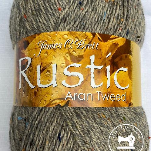 James C Brett Rustic Aran with Wool 400g Ball - Beige DAT40