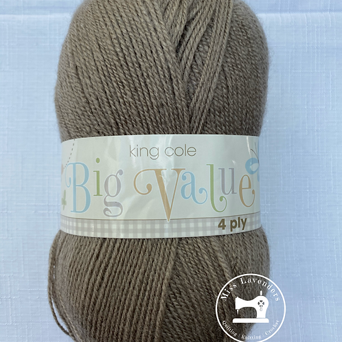 King Cole Big Value 4PLY 100g - Mushroom 3097