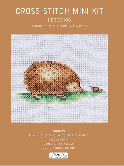 Counted Cross Stitch Mini Kit - Hedgehog