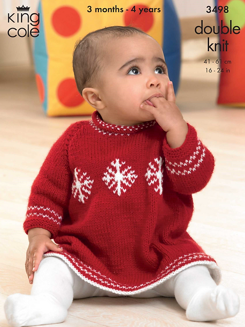King Cole  Babies Dress and Sweater DK -3498