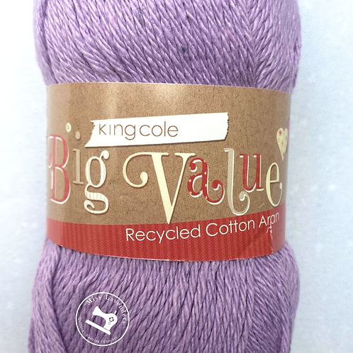 King Cole Recycled Aran 100g - Lilac 1166