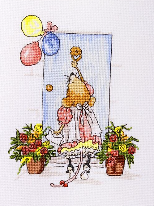 Cross Stitch Kit - Mouse Warming Party