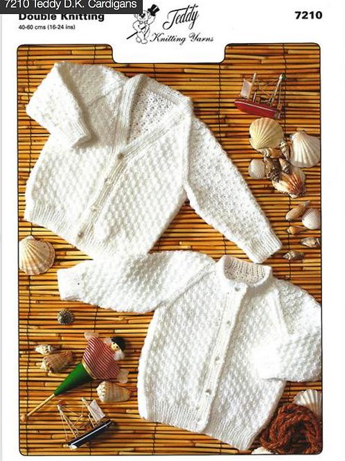 Teddy Baby Cardigans Knitting Pattern - 7210