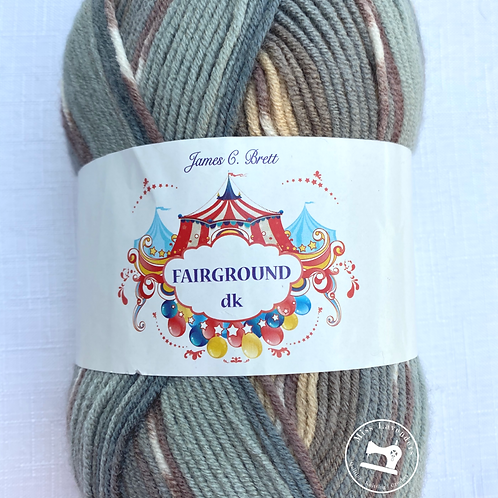 James C Brett Fairground DK Beige/Blue/Grey/Browns - G5