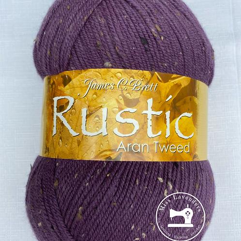 James C Brett Rustic Aran with Wool 400g Ball - Purple - DAT20