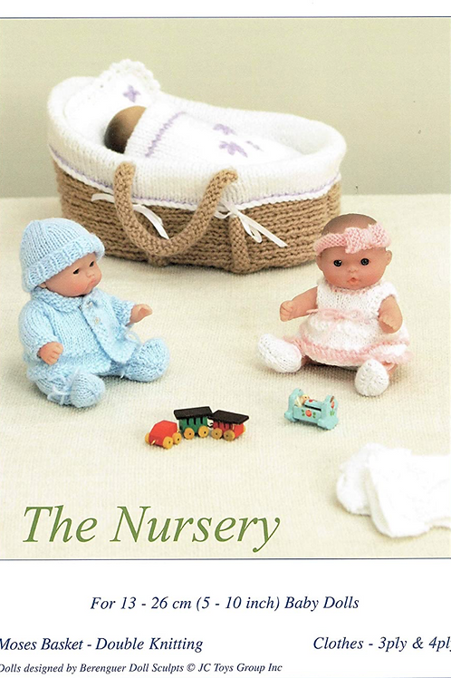 Knits and Pieces Knitted Moses Basket, Doll Outfits Pattern - KP-12