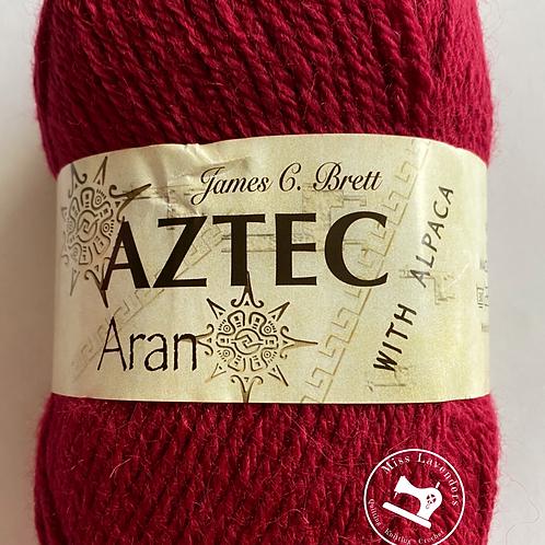 James C Brett Aztec Aran with Alpaca Red AL07
