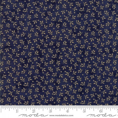 Moda Chrystal Lake Indigo & Tiny Flowers