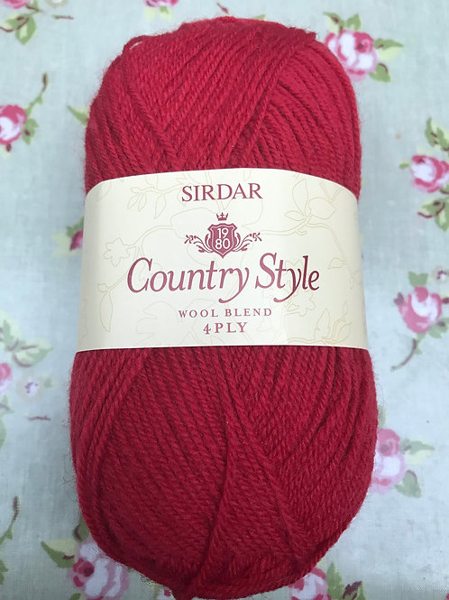 Sirdar Country Style 4ply 50g - Bakewell Red 621