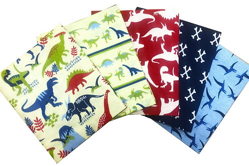 Dinosaur Land Cotton Fat Quarters 5 Pack