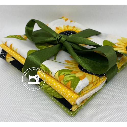 Sunny Bee by Makower - Fat Quarter Bundle of 4 - Sunflower