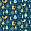 Thumbnail: Woodland Friends Fabric - Forest Foxes, Trees