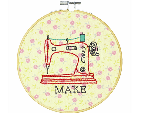 Embroidery Kit with Hoop: Crewel: Make