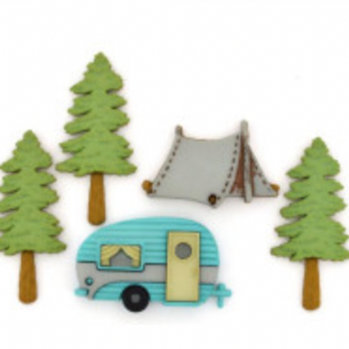 Dress it up Buttons - Hitting The Trail 10420 - Childrens/Craft