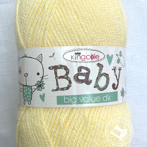 King Cole Big Value Baby Double Knit DK - 100g  - Primrose Yellow 2003