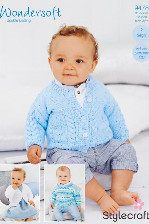 Stylecraft Babies Cardigans and Sweater - 9478