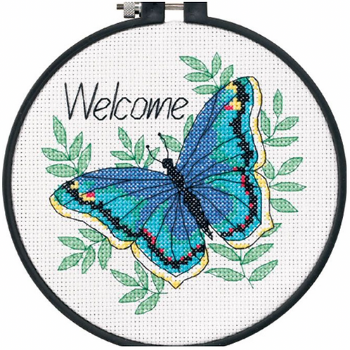Dimensions Learn-a-Craft Welcome Butterfly Counted Cross Stitch Kit