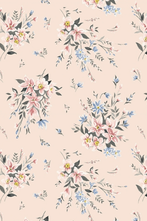 Liberty Winterbourne House - Bouquet Fabric - Soft Pink 04775732/B